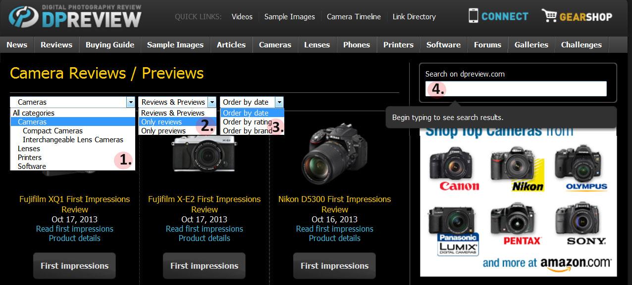 dpreview inicio opcoes Nikon ou Canon? Câmera profissional, ou semi profissional? Aprenda a decidir você mesmo!