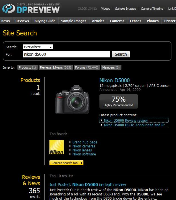 dpreview resultadoD5000 Nikon ou Canon? Câmera profissional, ou semi profissional? Aprenda a decidir você mesmo!