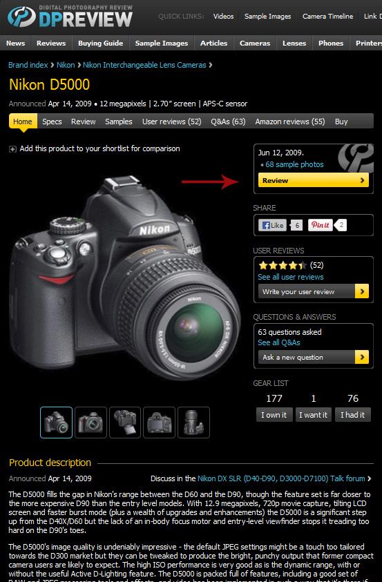 dpreview resumoD5000 Nikon ou Canon? Câmera profissional, ou semi profissional? Aprenda a decidir você mesmo!