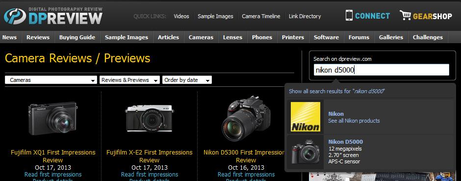 dpreviewbuscanikond5000 Nikon ou Canon? Câmera profissional, ou semi profissional? Aprenda a decidir você mesmo!