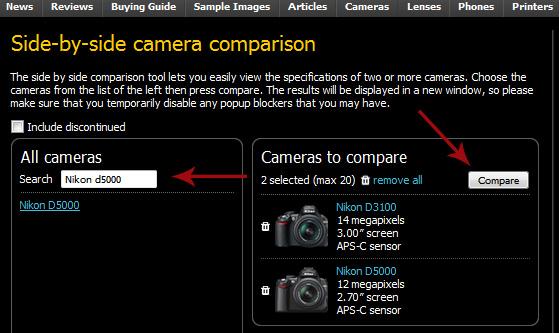 dpreviewpNikonSidebySide2 Nikon ou Canon? Câmera profissional, ou semi profissional? Aprenda a decidir você mesmo!