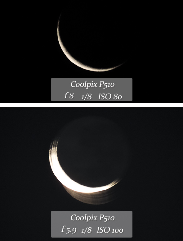 EXIF Coolpix tremida final Lua, como fotografar?