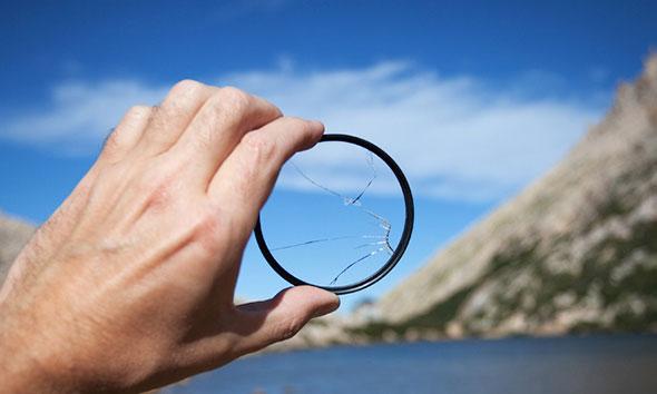 filtro quebrado Filtros fotográficos, o que são e pra que servem?