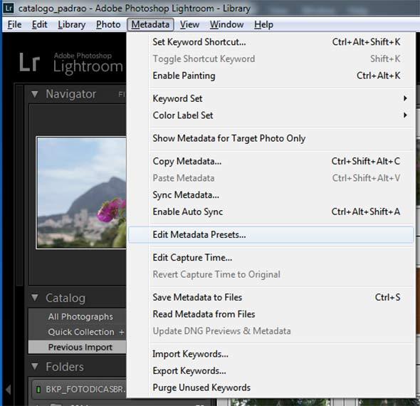 editmetadata Metadados , essencial na fotografia digital