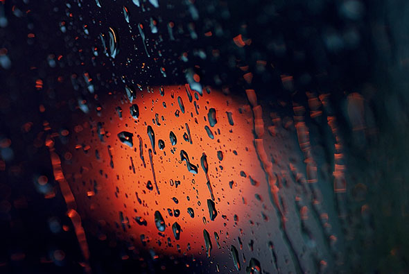 Tirando fotos na chuva