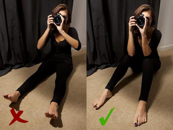 4 Sitting Como Segurar uma Câmera e Tirar Fotos Mais Precisas