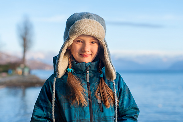 Menina no Inverno Ensaios externos, dicas de como fazer