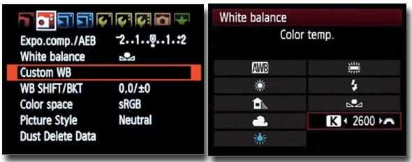 exemplo canon wb Balanço de branco, o que é e como usar