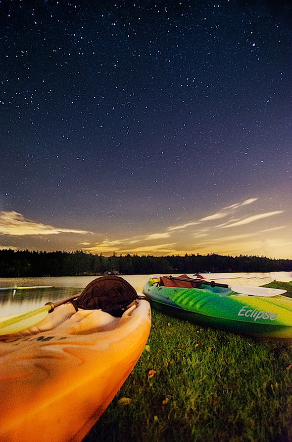 kayak under the stars Como Fotografar as Estrelas