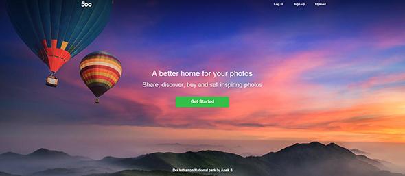 500px Onde compartilhar suas fotos na internet