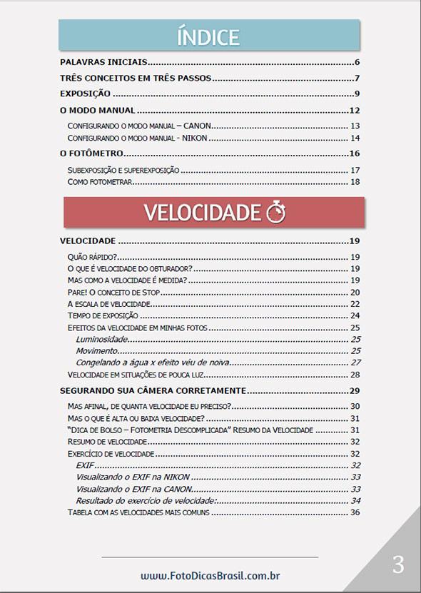 indice1 Ebook Fotometria Simples – Você no controle da Luz