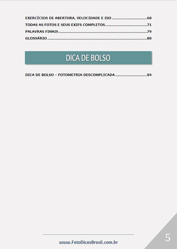 indice3 Ebook Fotometria Simples – Você no controle da Luz