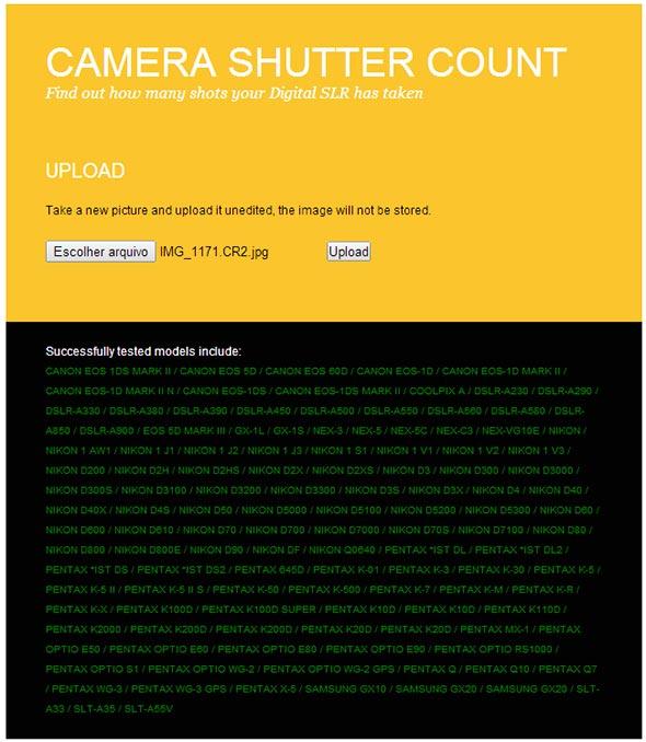 Camera Shutter Count Artigo Quanto dura minha máquina digital Shutter count   Afinal, quanto dura minha máquina digital?