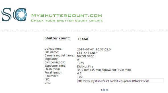 MyShutterCountResultadoLow Shutter count   Afinal, quanto dura minha máquina digital?