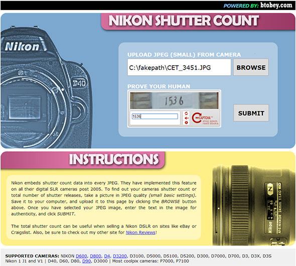 Nikon Shutter Count Artigo Quanto dura minha máquina digital Shutter count   Afinal, quanto dura minha máquina digital?