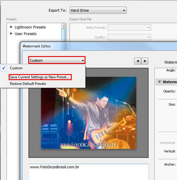 35ª imagem do Artigo Como inserir uma marca dágua em sua foto Como inserir uma marca d´água nas suas fotos