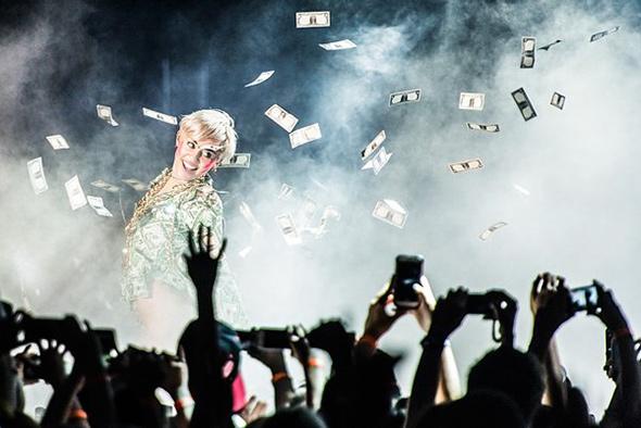 Miley Cyrus do artigo Dicas de Como Fotografar Shows Dicas de como fotografar shows