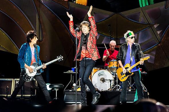 The Rolling Stones do artigo Dicas de Como Fotografar Shows Dicas de como fotografar shows