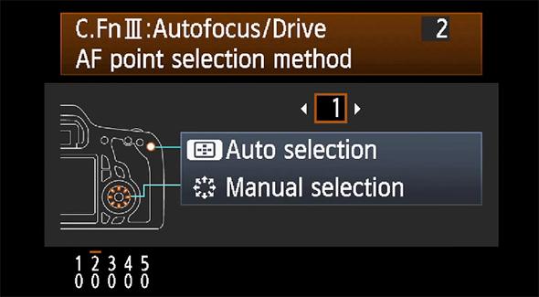 Funções personalizadas Canon 60D
