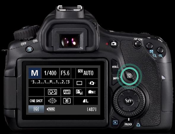 Botão Q - Quick Control (Controle Rápido) - Canon 60D