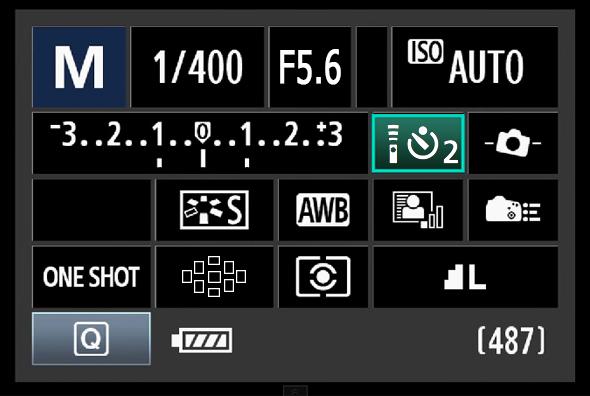 Painel de Acesso Rápido do Botão Q - Modo de dispari