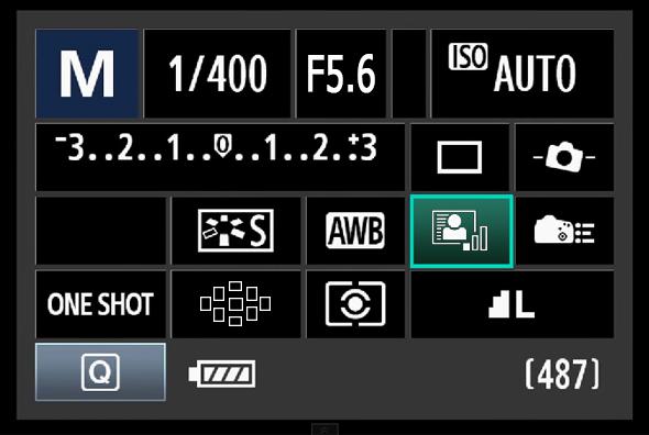 Painel de Acesso Rápido do Botão Q - Luz automática