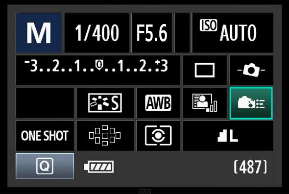 Painel de Acesso Rápido do Botão Q - Personalização de Controles