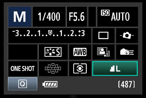 Painel de Acesso Rápido do Botão Q - Qualidade da Imagem
