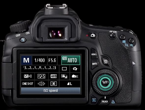"""Botão """"SET"""" para seleção de opções - Canon 60D"""
