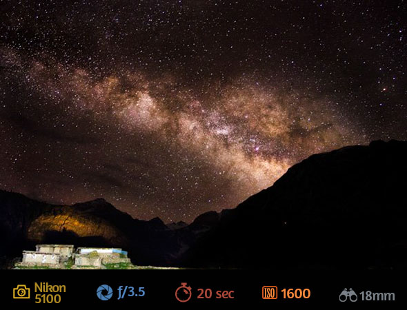 1ª imagem artigo fotografar estrelas Como Fotografar Estrelas Usando a Lente do Kit