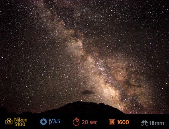 2ª imagem artigo fotografar estrelas Como Fotografar Estrelas Usando a Lente do Kit