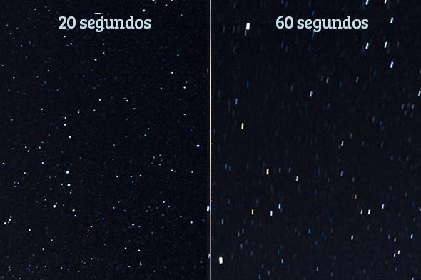 regra dos 500 rastro2 Como Fotografar Estrelas Usando a Lente do Kit