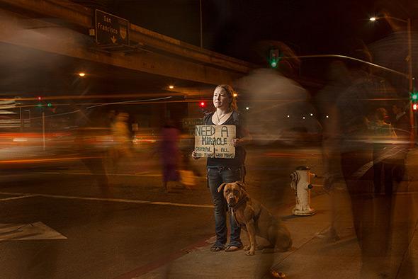 Aaron Draper Underexposed7 Fotógrafo cria série para dar visibilidade a moradores de rua