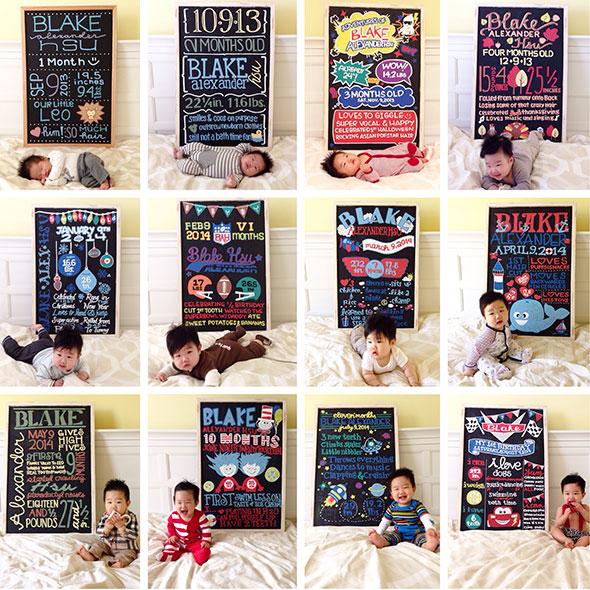 AcompanheOCrescimentodoBebe1 18 ideias Criativas Para Fotografar o Crescimento do Bebê