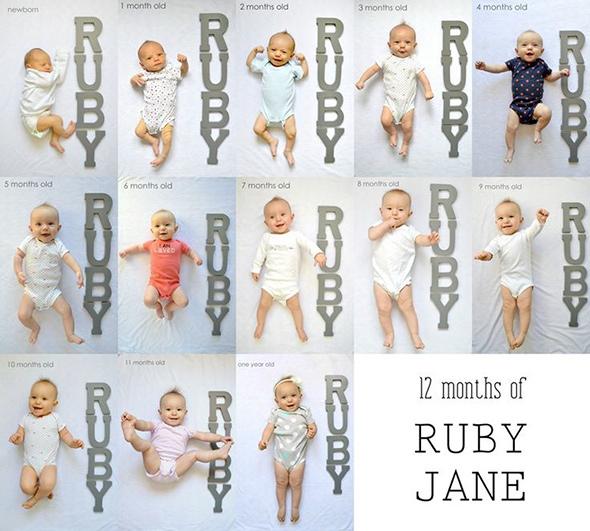 AcompanheOCrescimentodoBebe12 18 ideias Criativas Para Fotografar o Crescimento do Bebê