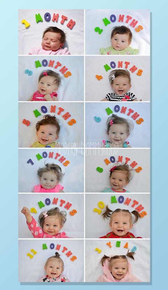 AcompanheOCrescimentodoBebe14 18 ideias Criativas Para Fotografar o Crescimento do Bebê