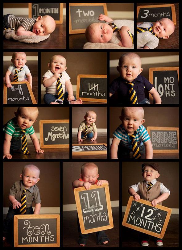 AcompanheOCrescimentodoBebe15 18 ideias Criativas Para Fotografar o Crescimento do Bebê