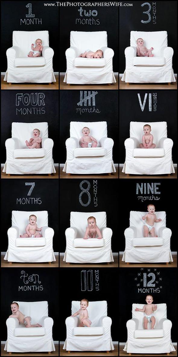 AcompanheOCrescimentodoBebe16 18 ideias Criativas Para Fotografar o Crescimento do Bebê