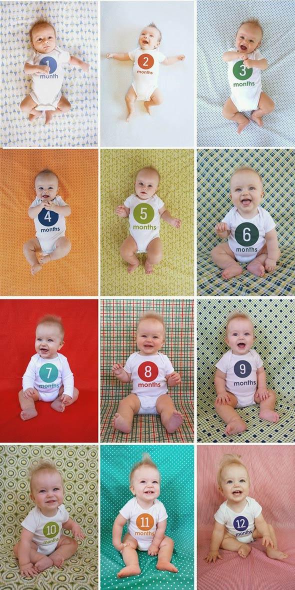 AcompanheOCrescimentodoBebe18 18 ideias Criativas Para Fotografar o Crescimento do Bebê