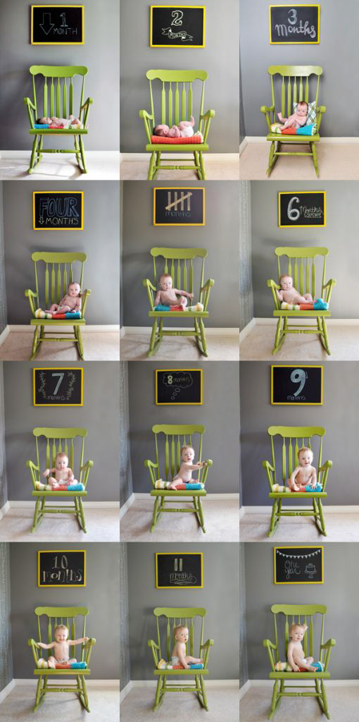 AcompanheOCrescimentodoBebe3 18 ideias Criativas Para Fotografar o Crescimento do Bebê