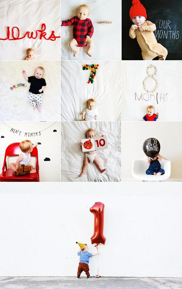 AcompanheOCrescimentodoBebe5 18 ideias Criativas Para Fotografar o Crescimento do Bebê