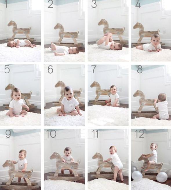 AcompanheOCrescimentodoBebe6 18 ideias Criativas Para Fotografar o Crescimento do Bebê