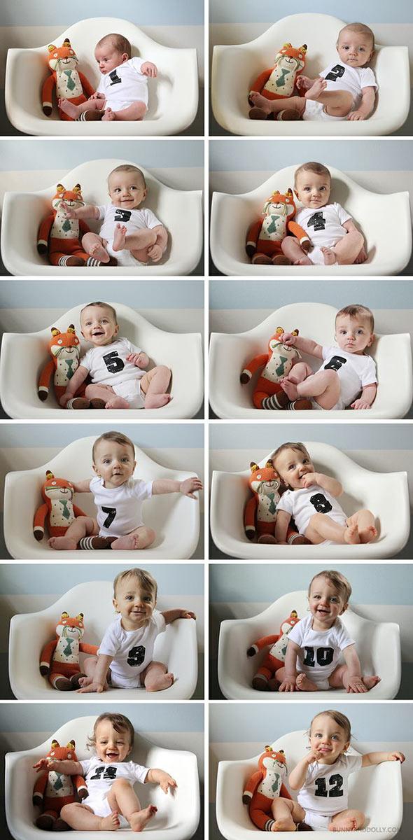 AcompanheOCrescimentodoBebe7 18 ideias Criativas Para Fotografar o Crescimento do Bebê
