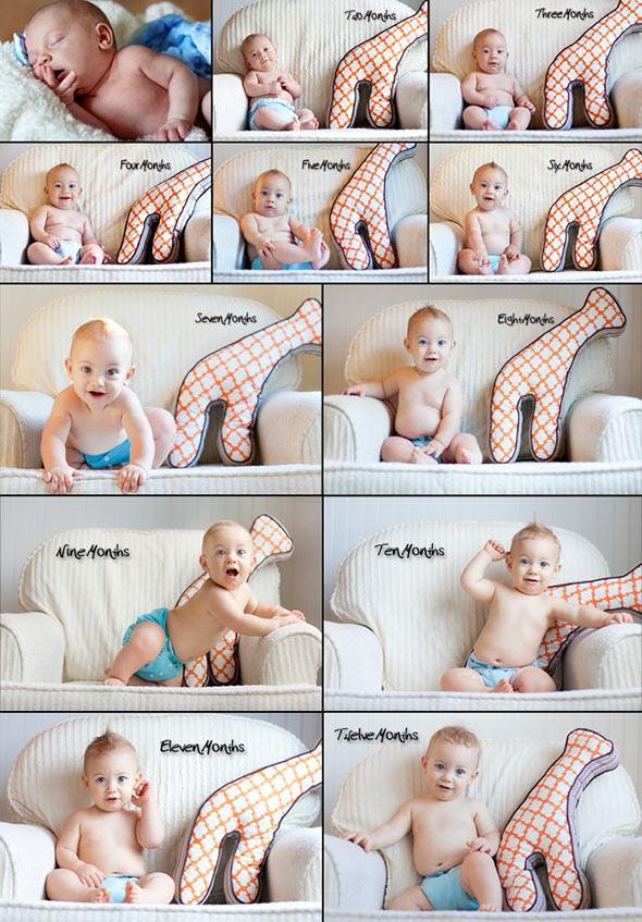 AcompanheOCrescimentodoBebe9 18 ideias Criativas Para Fotografar o Crescimento do Bebê
