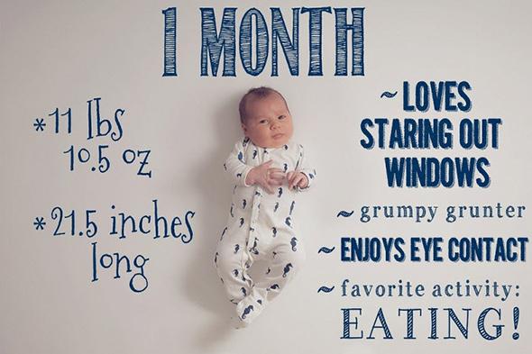 TonyaTeran1 18 ideias Criativas Para Fotografar o Crescimento do Bebê