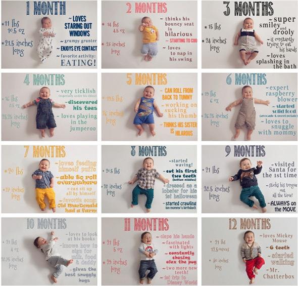 TonyaTeran2 18 ideias Criativas Para Fotografar o Crescimento do Bebê