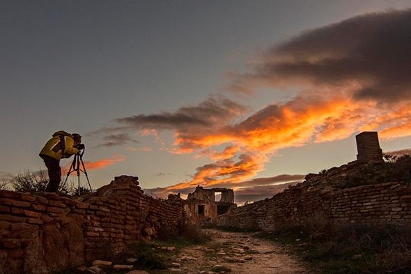 Sunset in Belchite by Tony Goran