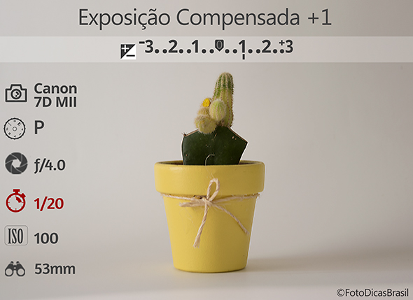 2CompensaçaoFundoBranco Fotometria1 Low Compensação de Exposição (EV+/ )