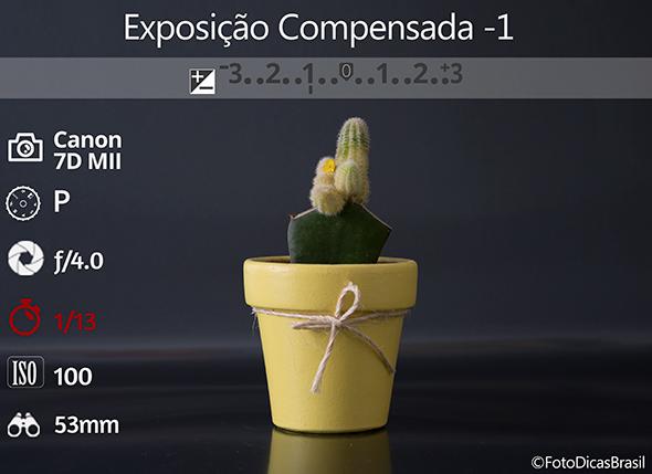 5CompensaçaoFundoPreto Fotometria 1 low Compensação de Exposição (EV+/ )