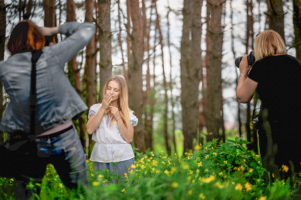 Dois fotógrafos Posso Fotografar Profissionalmente com uma Câmera de Entrada?